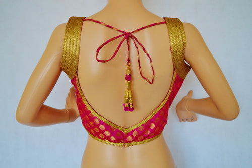 Brocade Readymade Saree Blouse / Choli top