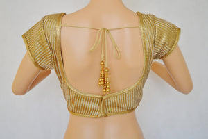 Designer Gold  Blouse One Size