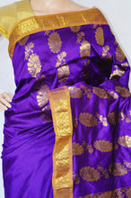 Beautiful Purple & Gold Colour Silk Saree