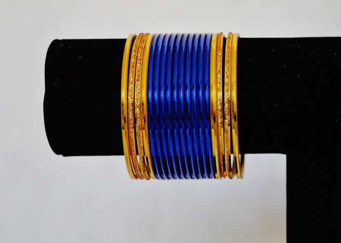 Set Of 18 Metal Jewellery Bangles