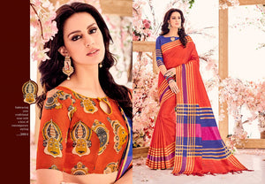 Banarasi Silk Saree With Two Blouses