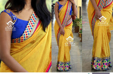 Yellow Colour  Saree With Designer Blouse