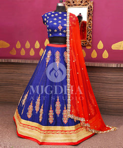 Silk Semi stitched Lehenga Choli