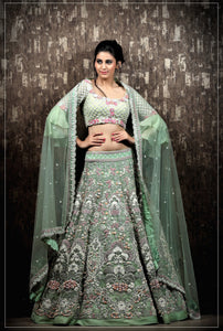 Green Colour Lehenga Choli