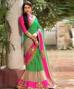 Green Colour Bangalore Silk Saree