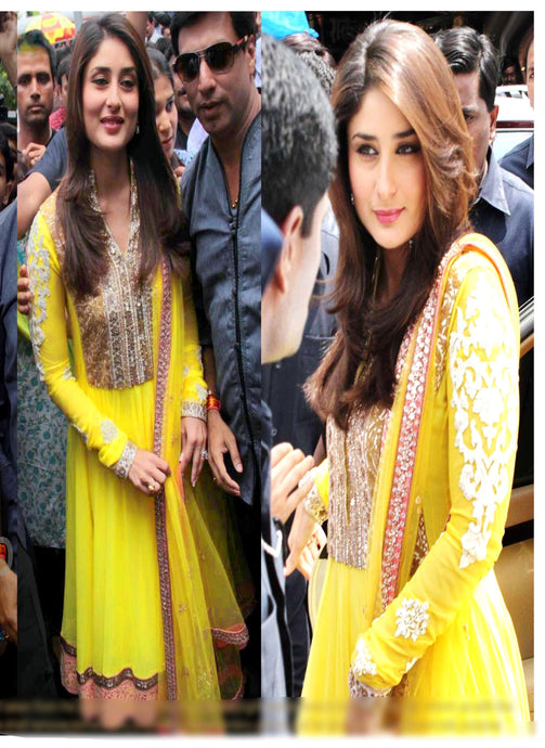 Bollywood Stylish Kareena Kapoor Semi-stitch Suit