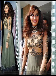 Bipasha Basu Bollywood Replica Semi Stitched Dress