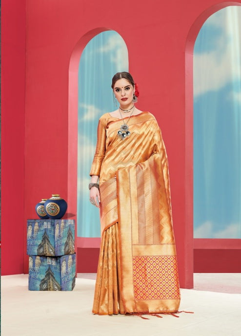 Red & Gold Pure Silk Saree