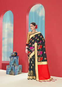 Black & Gold Pure Silk Saree