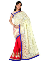 Gorgeous Peach,Pink,Red & Butter Colour Net Sonam Saree