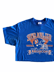 1987 Super Bowl Vintage Crop Tee - BurnoutRemixed