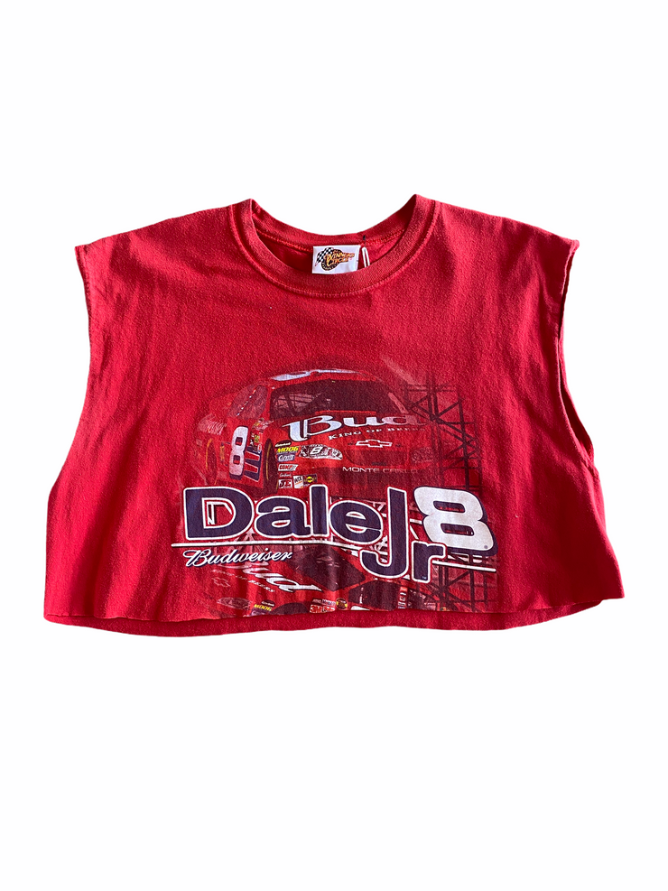 Dale Jr. Budweiser Vintage Crop Tank - BurnoutRemixed