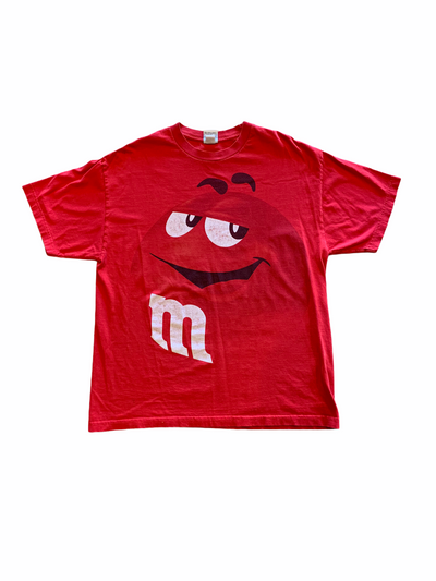 Vintage Red M&m Tee - BurnoutRemixed