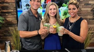 Making Mojitos for National Rum Day on Coast Live!