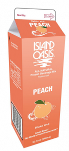Frozen Island Oasis Peach Smoothie Mix 1 Qt