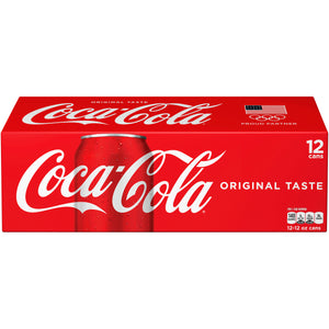 Coca-Cola Soda Soft Drink, 12ct 12 fl. oz Cans
