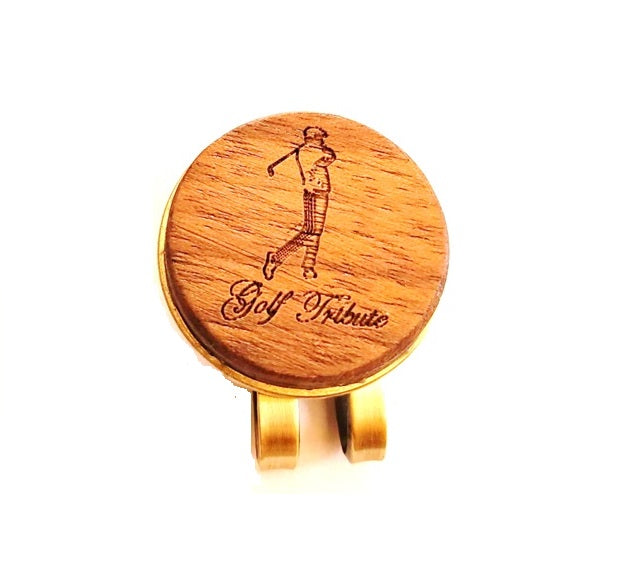 Wood Ball Marker w/ Clip