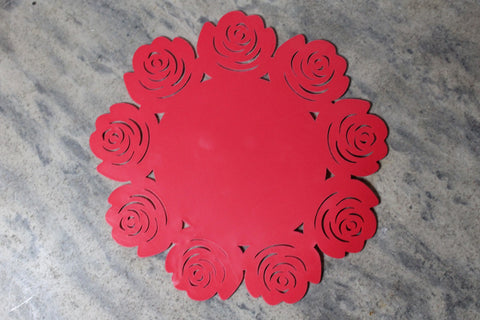Pink Rose Silicone Trivet