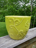 Green Planter with Design