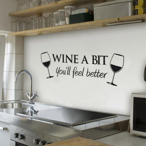 """Wine A Bit"" Wall Decal"