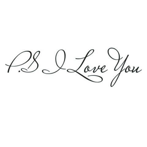 """PS I Love You"" Wall Decal"