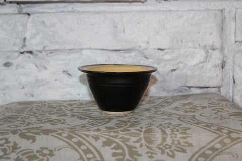 Brown and Yellow Pottery Bowl