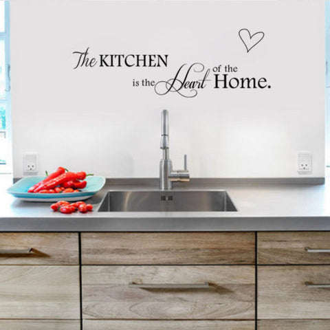 """Kitchen is the Heart of the home"" Vinyl Wall Decal"