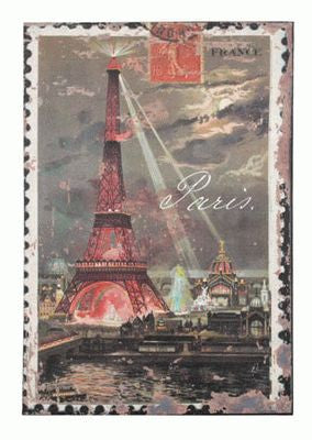 Evening in Paris Lighted Canvas