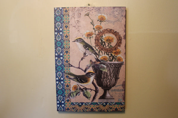 Boho Chic Bird Canvas