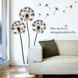"""May my love, riding dandelion fly"" Vinyl Wall Decal"