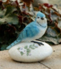 Resin Garden Blue Bird Stone