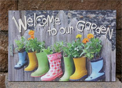 Welcome to Our Garden  Canvas Sign