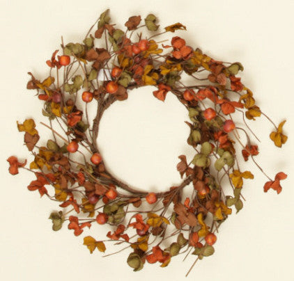 Autumn Flower and Berries Wreath