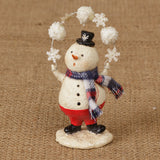 Snowman Figurine with Snowflakes