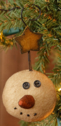 Plush Ornament Head with Hook