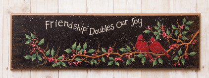 Door Board - Friendship doubles our joy