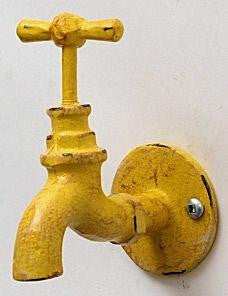 Cast Iron Yellow Faucet Wall Hook