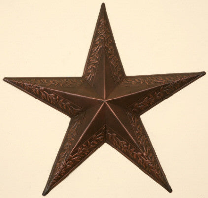 Berry Vine Embossed Star (Bronze)