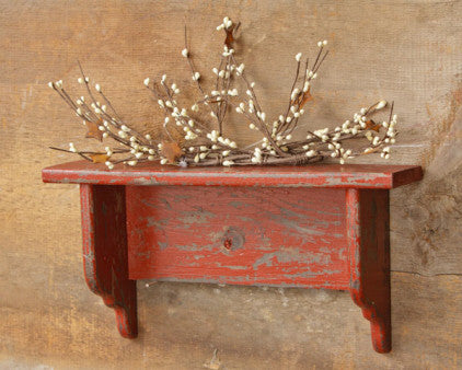Distressed Burgundy Wall Shelf
