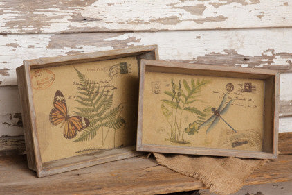 Butterfly and Dragonfly Nested Trays
