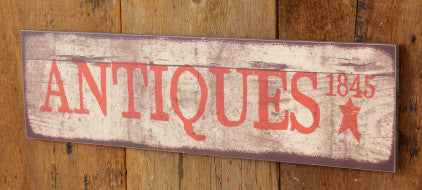 Antiques Wooden Sign