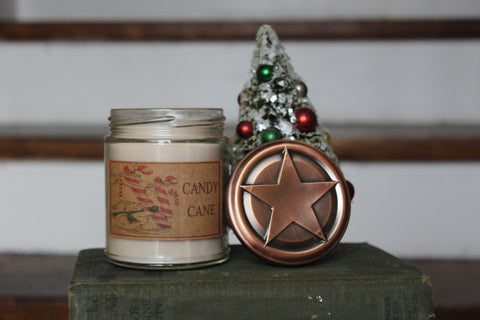 Candy Cane 8oz Soy Blend Candle