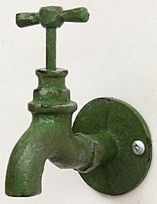 Cast Iron Green Faucet Wall Hook