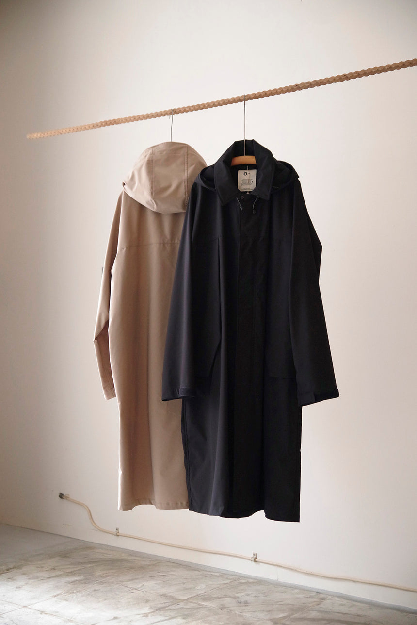 O- SOFTSHELL OVER COAT Black