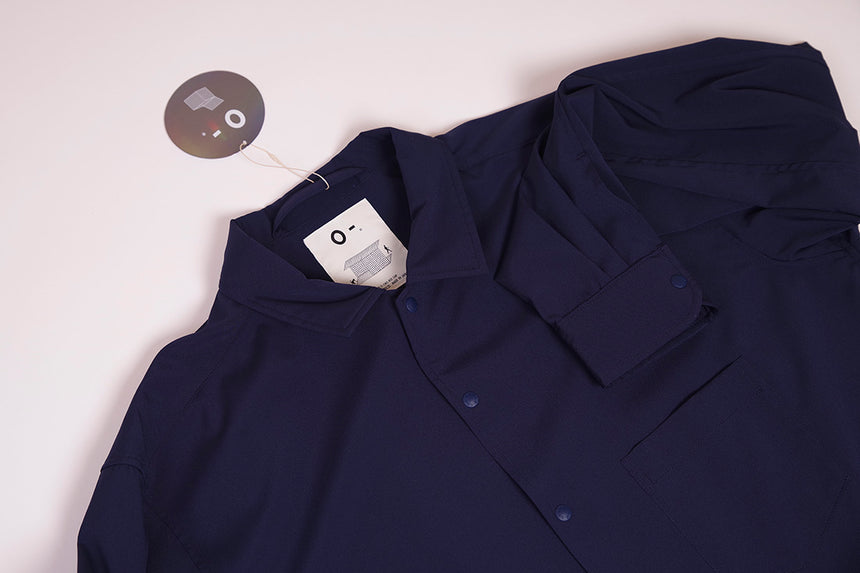 O- BAGGY SHIRT Navy