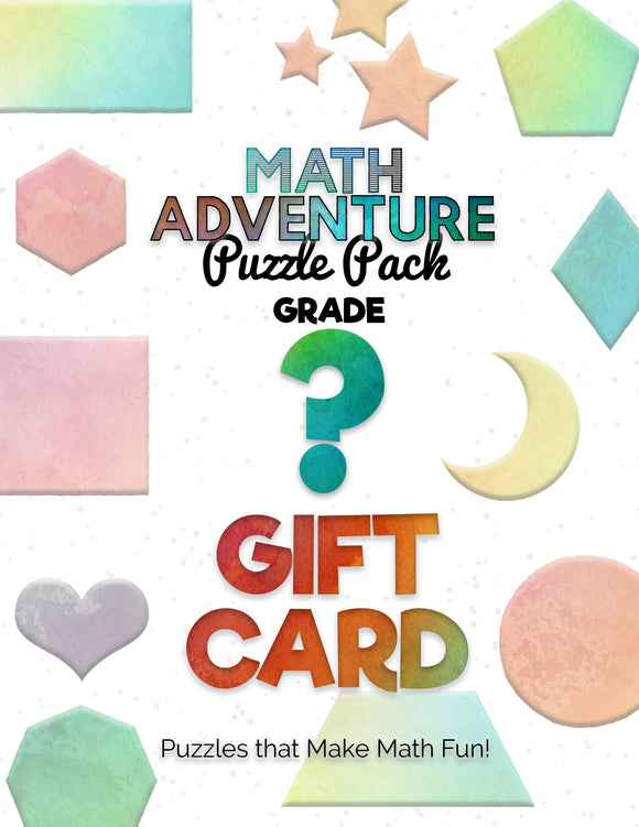 Math Adventure Puzzles Gift Card