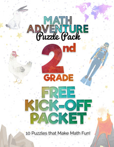 2nd Grade Free Kickoff Packet: Math Puzzles! (10 Puzzles)