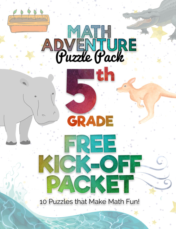 5th Grade Free Kickoff Packet: Math Puzzles! (10 Puzzles)