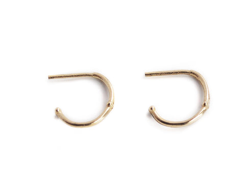 Mini Crescent Hoops - Teonella