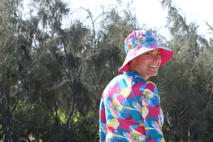 Adult's Wide Brimmed Bucket Hat - Seabirds